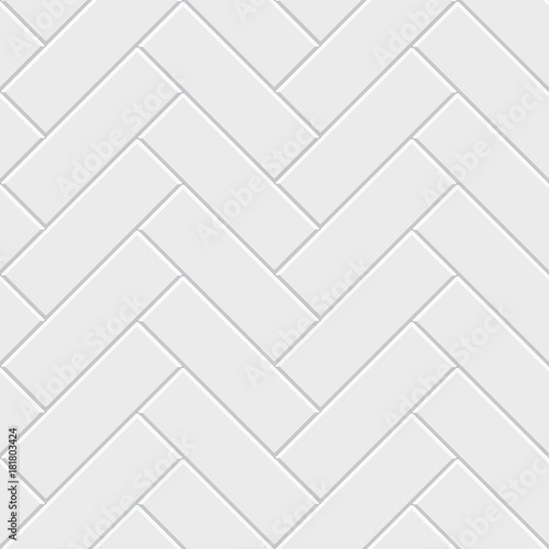 White Herringbone Parquet Seamless Pattern Classic Endless Floor Decoration