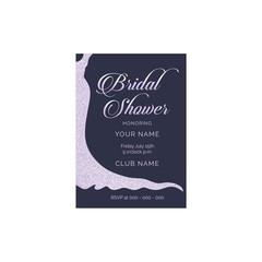 Bridal shower vector invitation