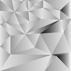 Vector of seamless geometric white and gray background of triangular polygons pattern.