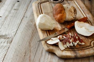 Wild porcino mushrooms