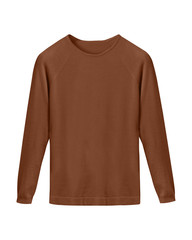 Brown classy casual sweater isolated on white