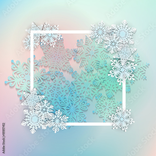 vector illustration abstract christmas background with volumetric