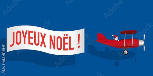 Humour Pere Noel Image.Noel Pere Noel Avion Banderole Carte De Vœux