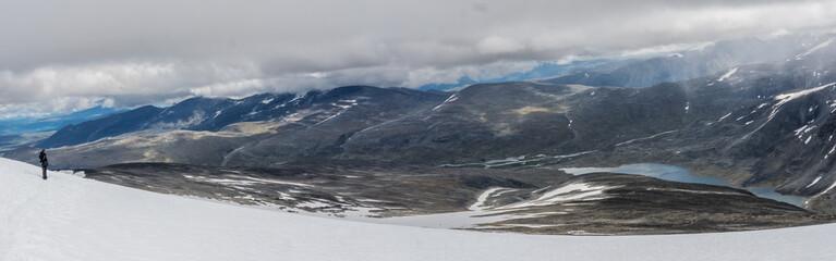View from Mount Glitterthind to the Steinbuvatnet Lake, Jotunheimen National Park, Norway