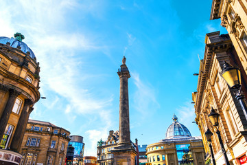 Charles Grey Monument in Newcastle upon Tyne, UK during the day