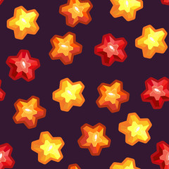 Seamless texture with stars