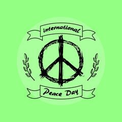 International Peace Day on Vector Illustration