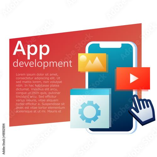 Mobile App development banner  User interface in application