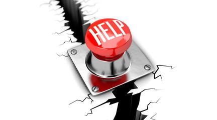 Hilfe-Schalter Abgrund
