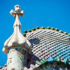Dach eines jugendstil Hauses in Barcelona