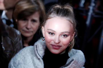 Model and actress Lily-Rose Depp arrives to attend the ceremony to inaugurate the Christmas holiday lights on the Champs Elysees avenue in Paris