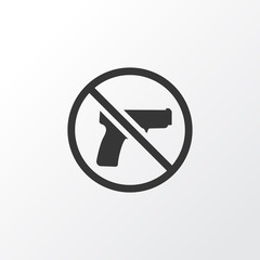 Forbidden Icon Symbol. Premium Quality Isolated No Weapon Element In Trendy Style.