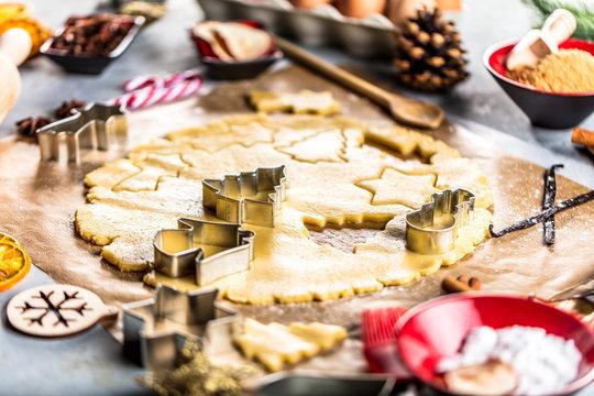 Leckere Weihnachtsplätzchen, Lebkuchen.