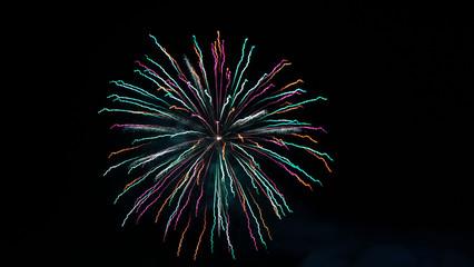 Feuerwerk Grün Rot