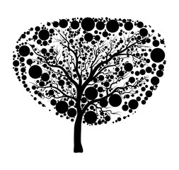 tree silhouette icon design isolated on white background