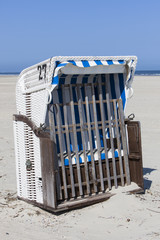 Beach chair in the sun