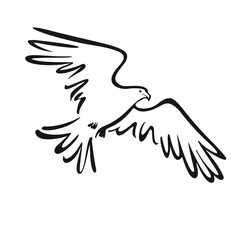 eagle icon illustration isolated vector sign symbol