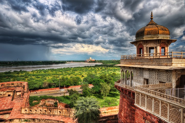 Agra Fort Wall mural
