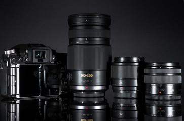 Kamera mit 3 Objektiven