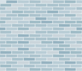 Brick wall pale blue.