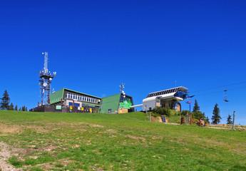 Schüsselberg Seilbahn im Riesengebirge - Medvedin ropeway in Giant  Mountains