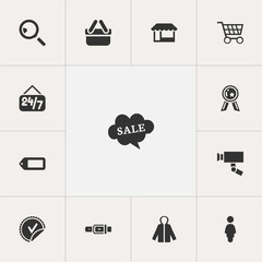 Set Of 13 Editable Business Icons. Includes Symbols Such As Sheath, Open Everyday, Research And More. Can Be Used For Web, Mobile, UI And Infographic Design.