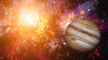 Planet Jupiter. Elements of this image furnished by NASA