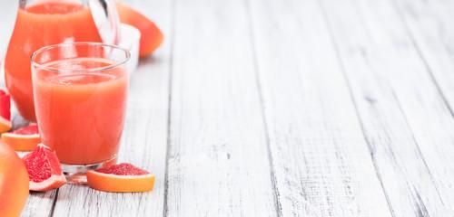 Freshly squeezed Grapefruit Juice (selective focus)