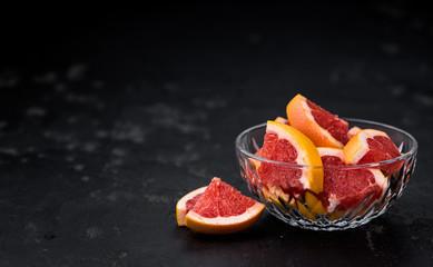 Chopped Grapefruits (selective focus)