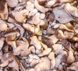 frozen cut oyster mushrooms (pleurotus)