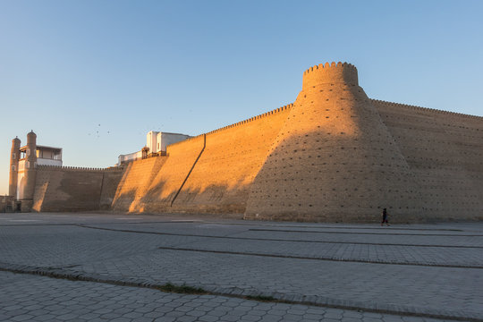 Ark fortress at sunset, Bukhara, Uzbekistan
