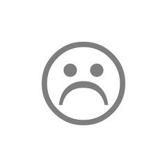 Sad face icon. Web element. Premium quality graphic design. Signs symbols collection, simple icon for websites, web design, mobile app, info graphics