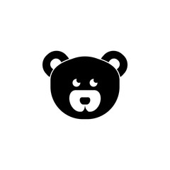 Teddy bear face icon. Baby element icon. Premium quality graphic design icon. Signs, outline symbols collection icon for websites, web design, mobile app, info graphics