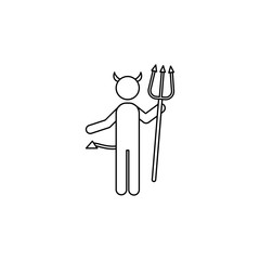 Devil line icon