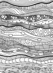 Vector pattern with zentangle background. Pattern for invitations, posters, coloring. flayers, spa, Vector illustration.