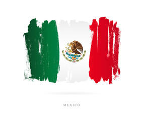 Flag of Mexico. Abstract concept