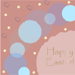 Happy Easter Greeting Card with golden message.