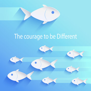 The Courage to Be Different Vector Illustration