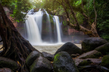 Haew Suwat Waterfall in Khao Yai National Park, Thailand