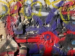 graffiti briques