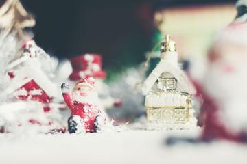 Close up of Santa Claus doll. Christmas decoration