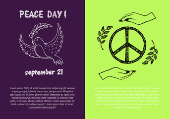 Peace Day September 21 on Vector Illustration