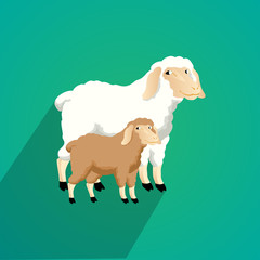 sheep flat design