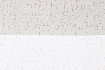 texture background of white puzzle