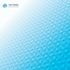 Abstract grid geometric pattern 3d perspective blue color background.