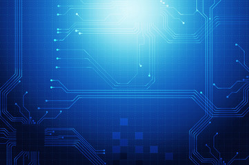 dark blue technology circuit abstract background