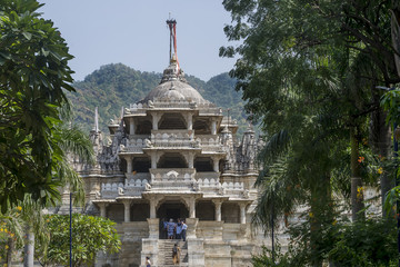 Front view of Ranakpur Jain Temple, Rajasthan, India