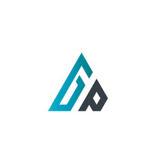 Initial Letter GP Linked Triangle Design Logo