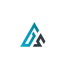 Initial Letter GS Linked Triangle Design Logo