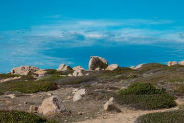 coastal landscape of Sardinia, cliff